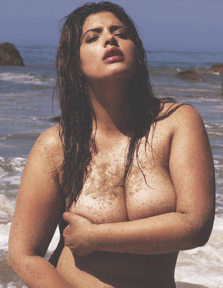 Plus Size Model Denise Bidot  Sensual Nude-4007