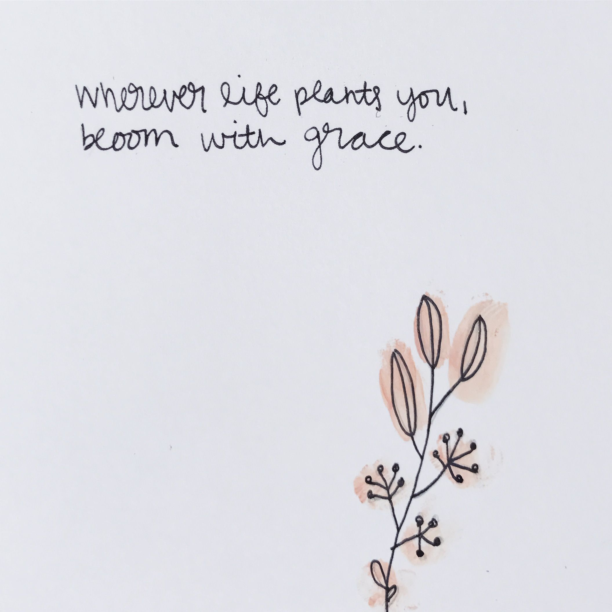 Wherever Life Plants You Bloom With Grace Hand Lettering Illustration By Andrea Klohn Life Is Too Short Quotes Grace Quotes Short Quotes