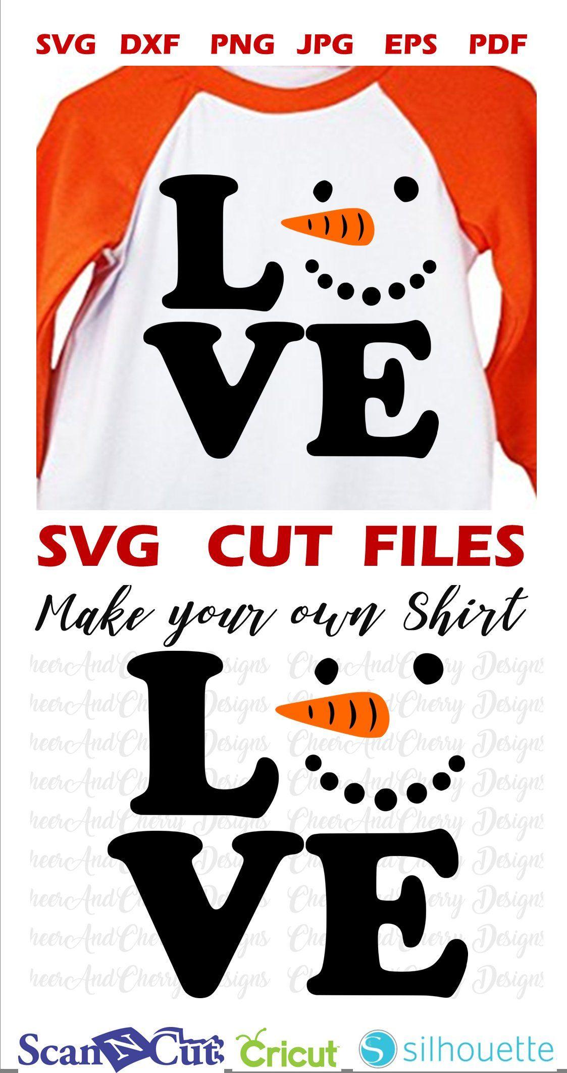 Love snowman face SVG Snowman svg file for Cricut