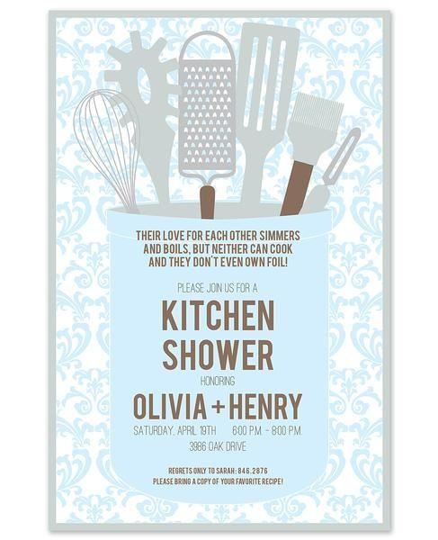 kitchen themed bridal shower invitations and printables kitchen gleam invitation love the wording at