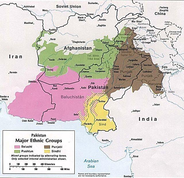 Major ethnic groups of Pakistan in 1980 - Balochistan