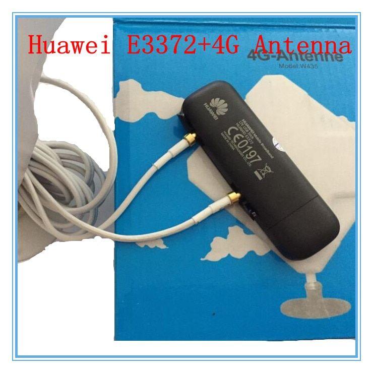 Unlocked Huawei E3372 plus Antenna 4G LTE 150Mbps USB Modem