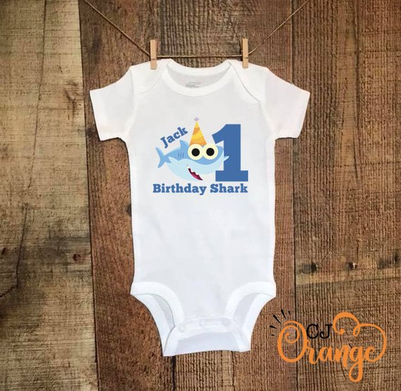 613c59145 Birthday Shark Baby Bodysuit or T-Shirt / PinkFong/ Doo Doo Doo ...