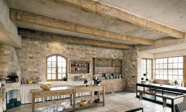 Wood Grain Porcelain Tile Kitchen