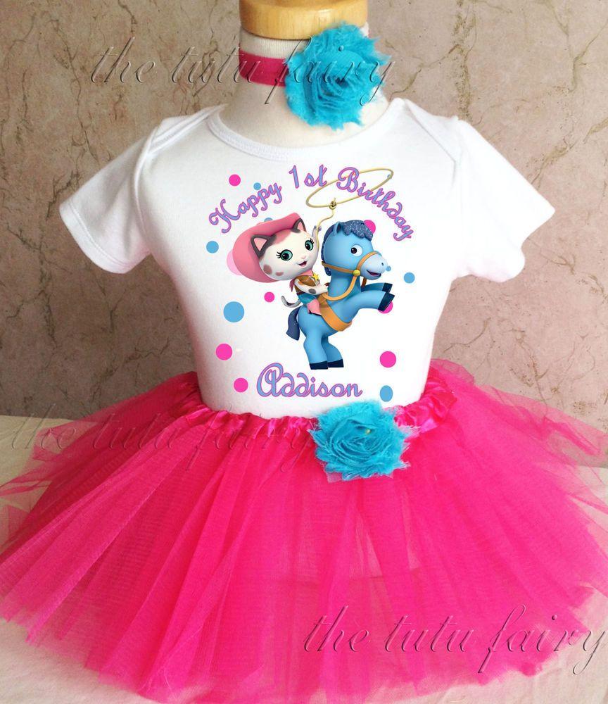 1st 2nd 3rd 4 5 6 7  Birthday Abby Cadabby Pink Purple Girl Tutu Outfit Headband