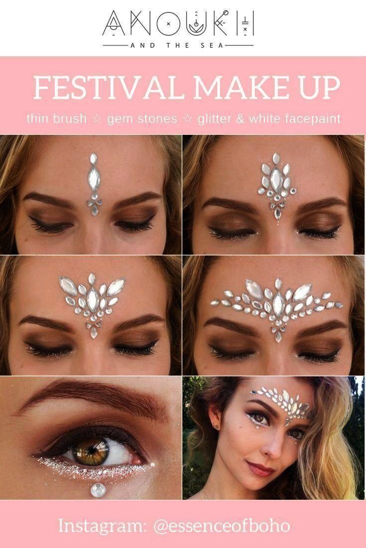 White Gemstone Festival Look   Exploration Happiness - Sindy -Festival MakeUp: White Gemstone Festi