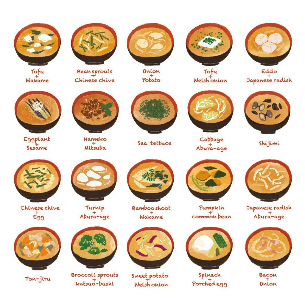 types of japanese soups