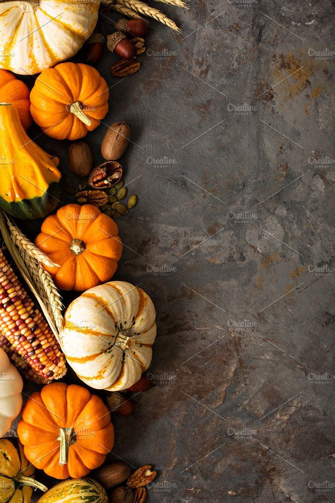 Fall background with pumpkins by farwasser on @creativemarket #fallbackgrounds