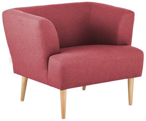 Machen Sie es sich so richtig gemütlich in Ihrem Wohnzimmer! Mit dem Sessel ELLA gar kein Problem. Der Sessel in Rot besticht mit seinem Samt-Bezug und wird in seinem edlen Retro-Design zu einem echten Hingucker. Mit einem dekorativen Kissen sorgen Sie zugleich für ein komfortables Sitzvergnügen.