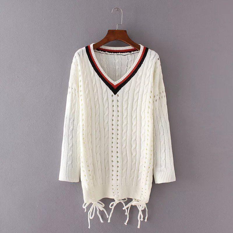 Preppy Style V-Neck Sweaters