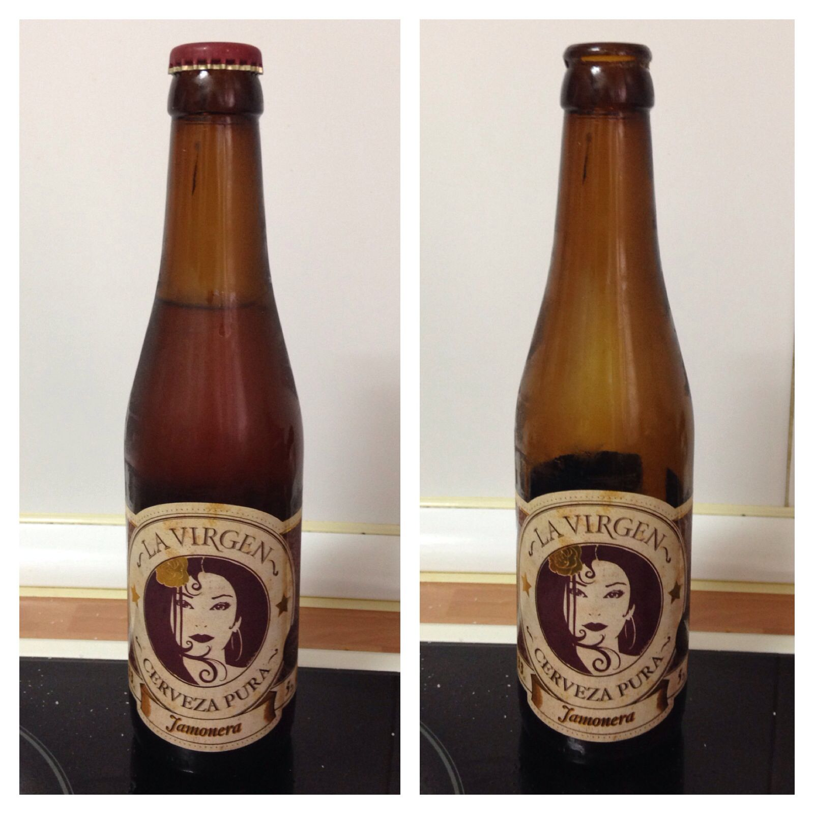La Virgen Cerveza Pura Rubia 5 Alcohol Curiosa Cerveza Con Un