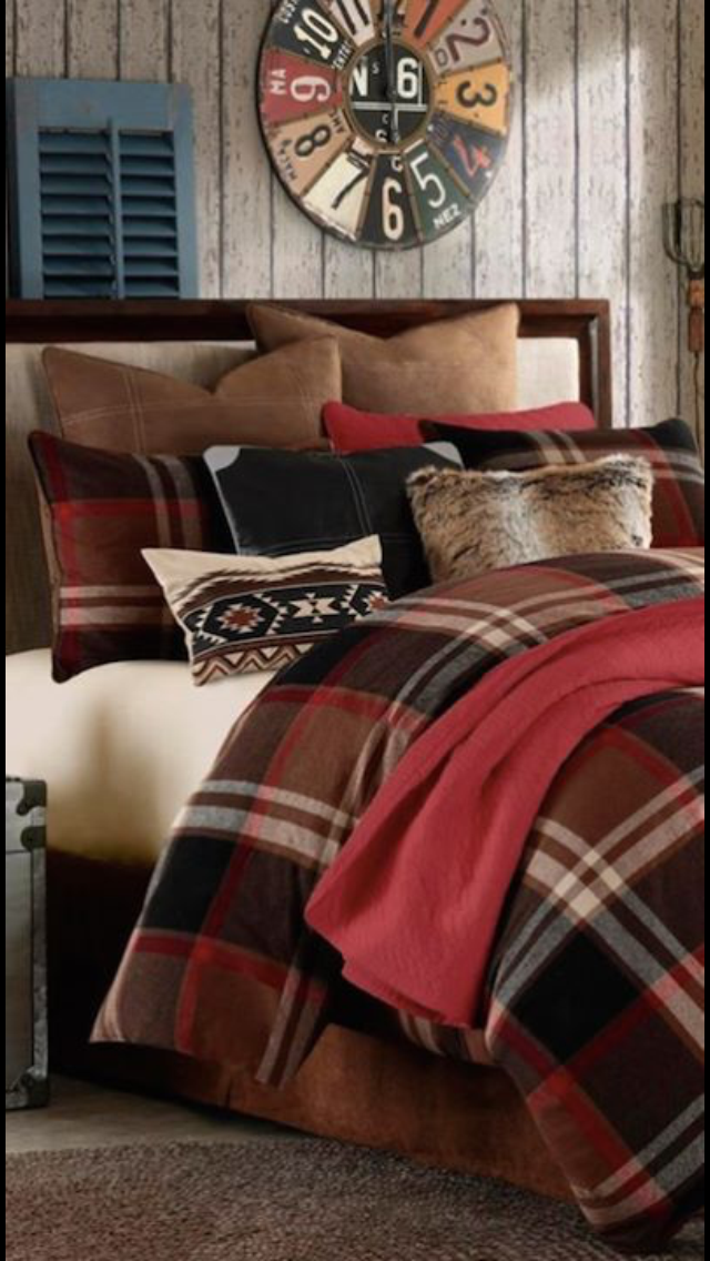 Plaid Bedroom Red Bedroom Decor Plaid Comforter