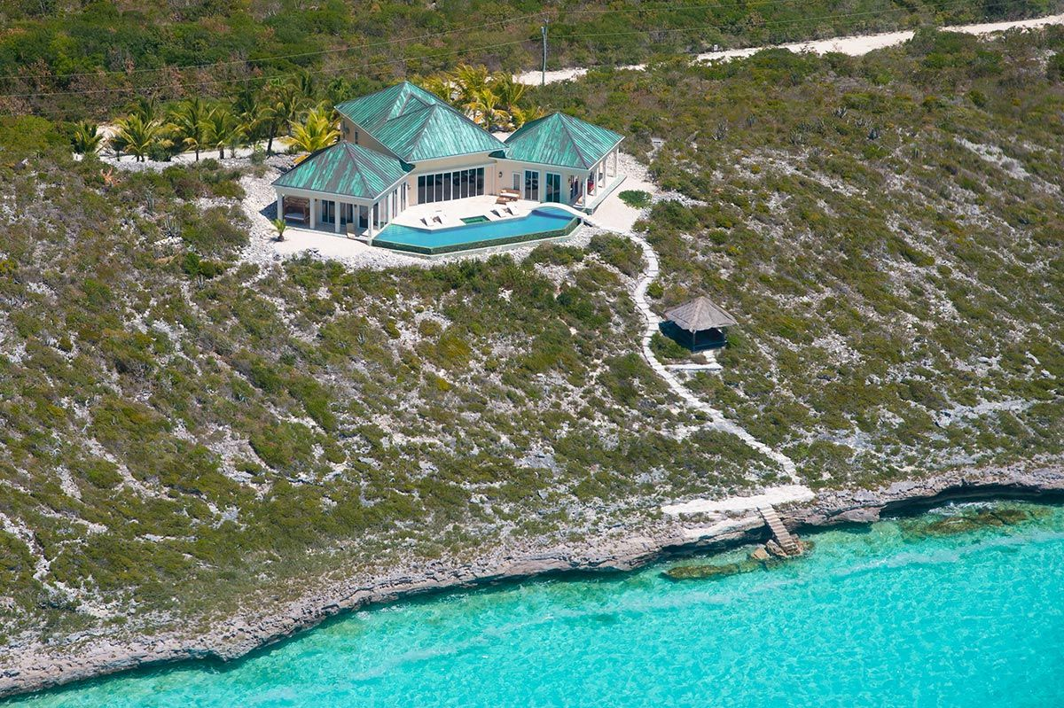 with stunning views of the turks and caicos banks, a unique modern