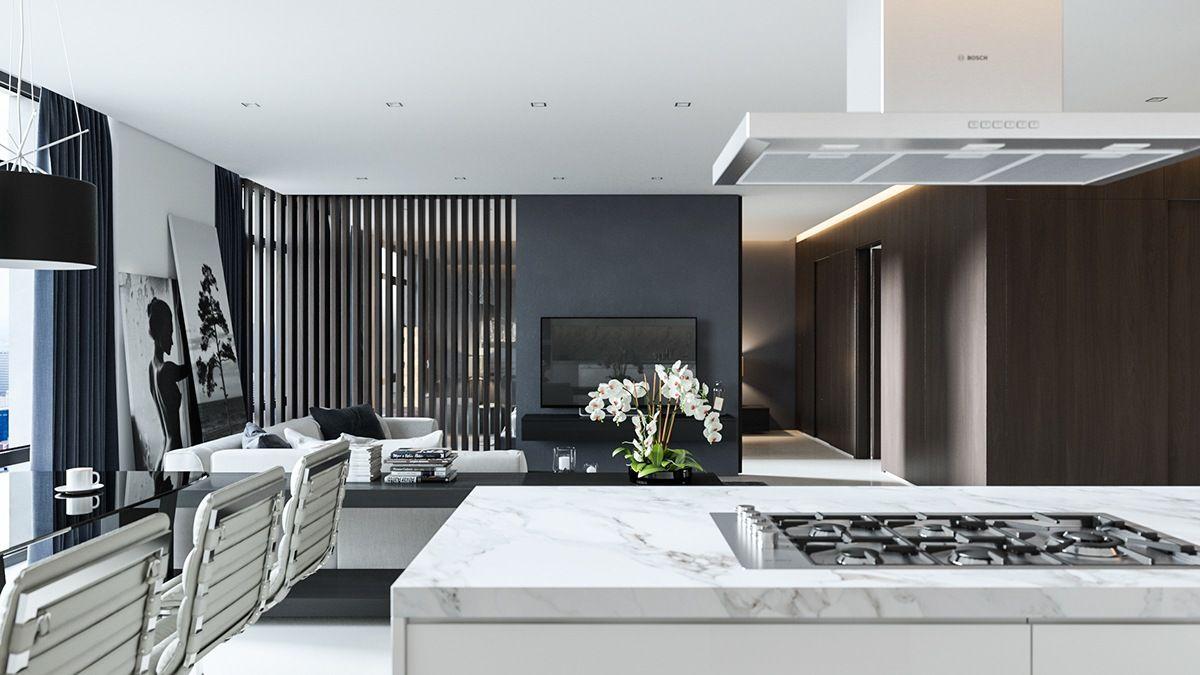 Three Black And White Interiors That Ooze Class White Interior