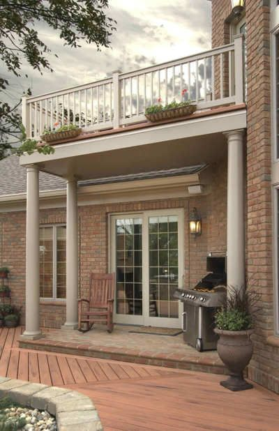 Covered Balcony Grill Design: Nice Area To Grill On A Covered Area