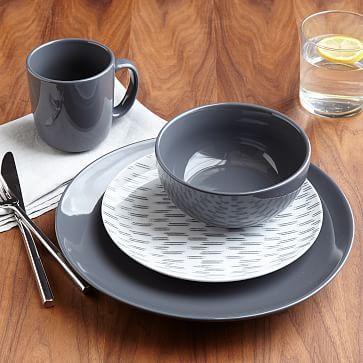 Palette Dinnerware Set Slate Westelm Dinnerware Apartment