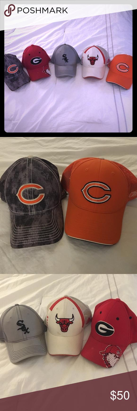 Lids Hat Bundle 5 Fitted Hats Sizes L Xl Fitted Hats Lids Hat Chicago Bulls Hat