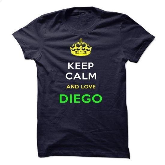 Keep Calm And Love DIEGO - shirt outfit #couple hoodie #superhero hoodie