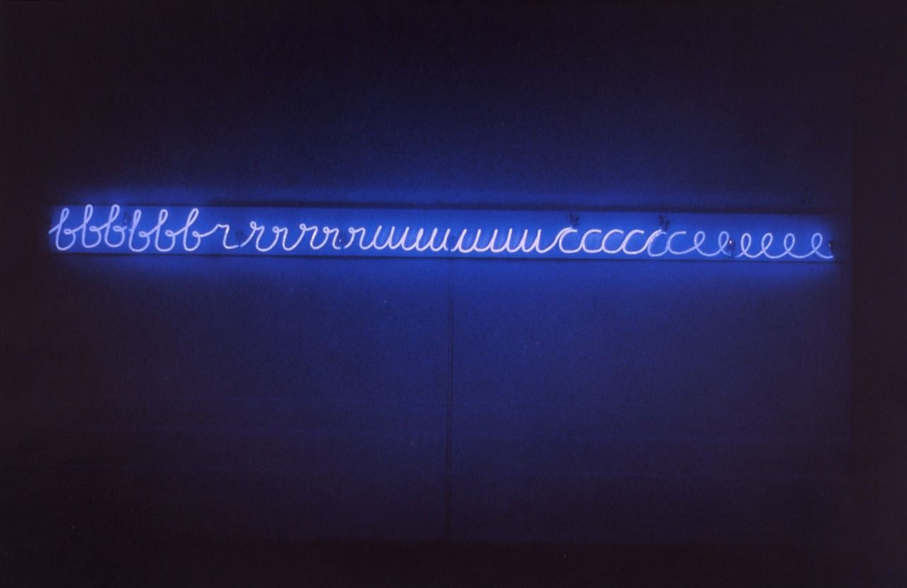 Bruce nauman my name as though it were written on the surface of