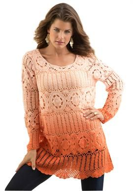 Ombre Crochet Sweater. Thought this would be Great for Me to Wear for Our Daughter's (Tiffany) Fall Wedding!
