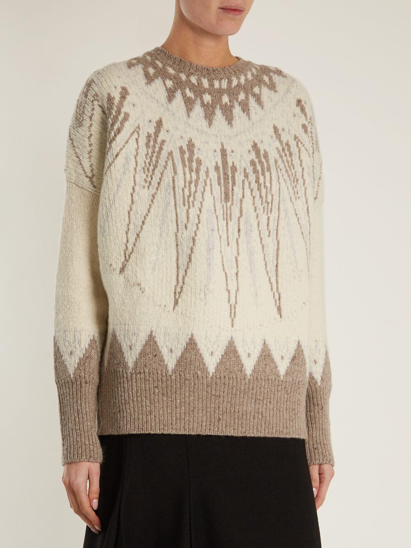 Geometric-intarsia wool-bend sweater | Adam Lippes | MATCHESFASHION ...