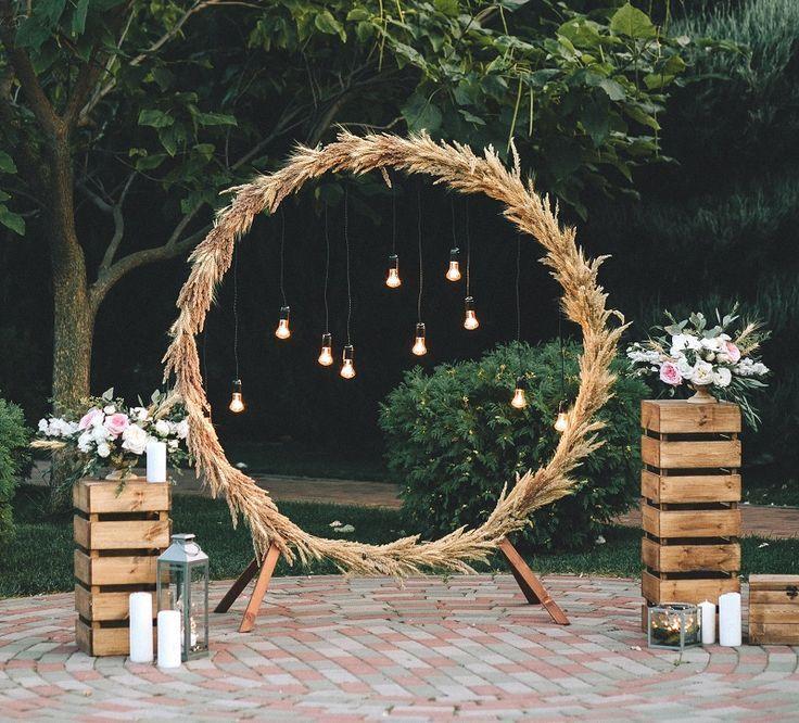 Aros de boda – 30 ideas creativas de decoración de bodas – caja de boda