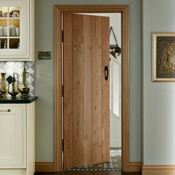 Create A Sense Of Traditional Craftsmanship With Our Solid Rustic Oak Ledged Door Doors Interior Oak Doors Wood Doors Interior