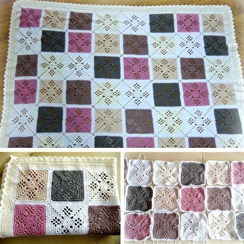 Victorian Lattice Square - Free Pattern (Crochet For Children) | Häkeln