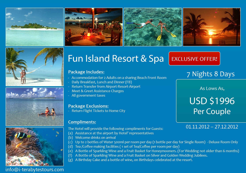 7 Nights Holiday At Fun Island Resort Spa Maldives