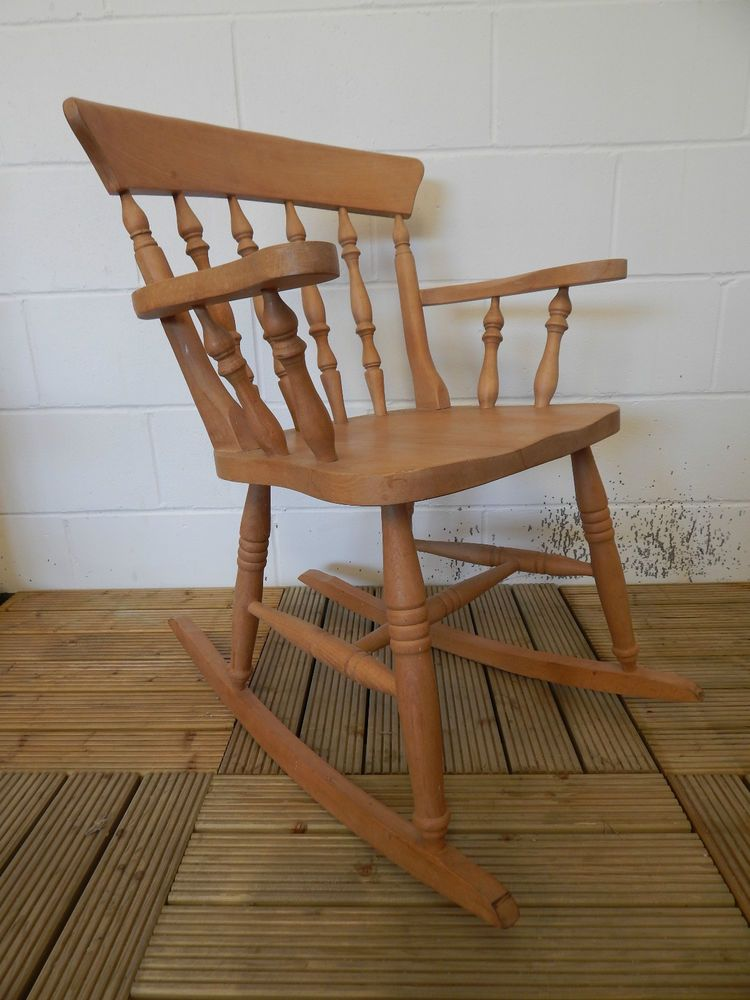 Lovely Small Solid Beech Rocking Chair *Local Delivery
