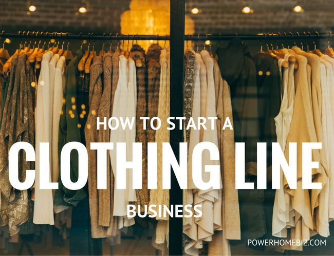 clothing line business
