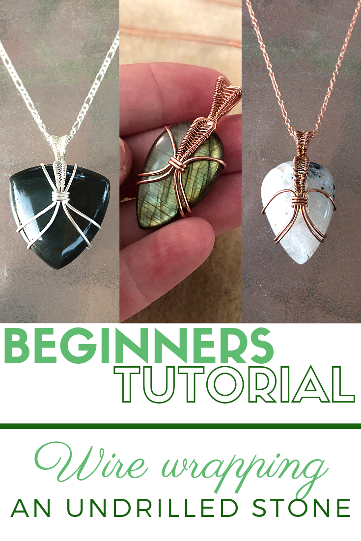 Photo of Wire Wrap an Undrilled Stone – Beginner's Wire-Wrapping Tutorial PDF, Easy Step by Step Jewelry Maki