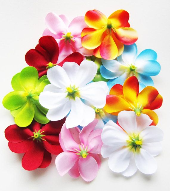 100 Assorted Ii Mixed Plumeria Frangipani Heads Artificial Etsy Floral Supplies Wholesale Artificial Silk Flowers Silk Flowers