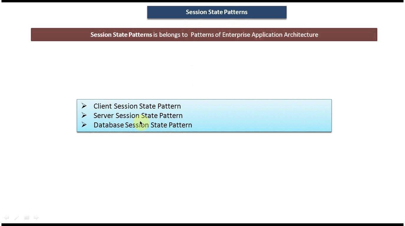 Session State Design Pattern Pattern Design Enterprise