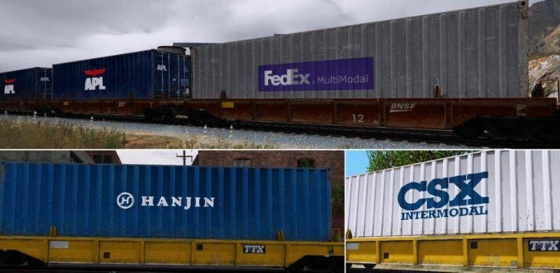 Freight Train Container And Container Car Reskins Train Container Evergreen