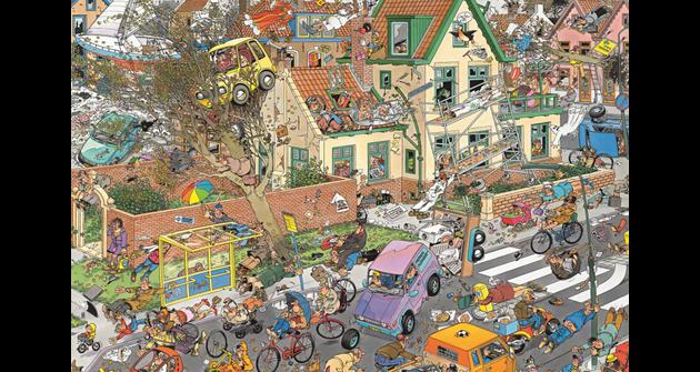 THE STORM No. of pieces: 1500 Size: 90 x 60 cm Artist: Jan van Haasteren