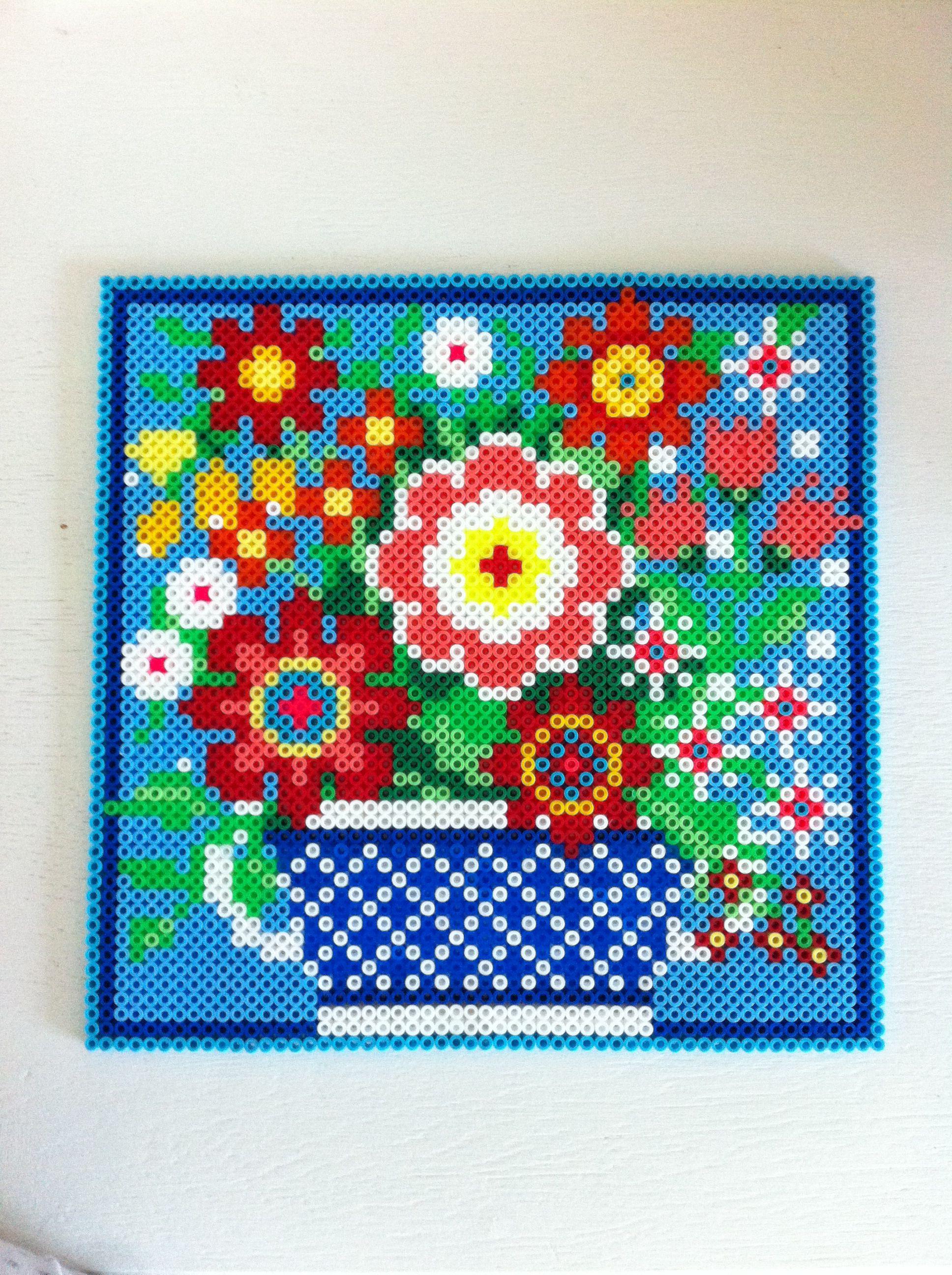 Perler Bead Flower Pot Pattern | Craft Sites - Perler Bead Patterns ...