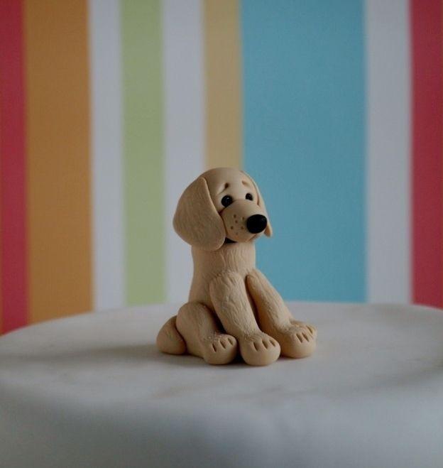 Golden Retriever Cake Topper Fondant Dog Dog Cake Topper Cake