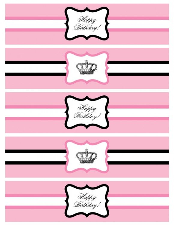photo regarding Free Printable Water Bottle Labels called Absolutely free printable princess get together h2o bottle labels
