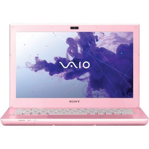 "Sony VAIO(R) SVS13122CXP 13.3"" Notebook PC - Pink by Sony. $799.99. At just 3.80 lbs., the Sony VAIO(R) S Series 13 notebook offers stepped up performance, all day mobility in a sleek, full-flat design with carbon fiber elements. Features like slot-loading optical drive, large clickable touchpad and backlit keyboard are standard. Get even longer battery life with the optional extended sheet battery. Equipped with a 3rd generation Intel Core i5 processor, built-in slot-..."