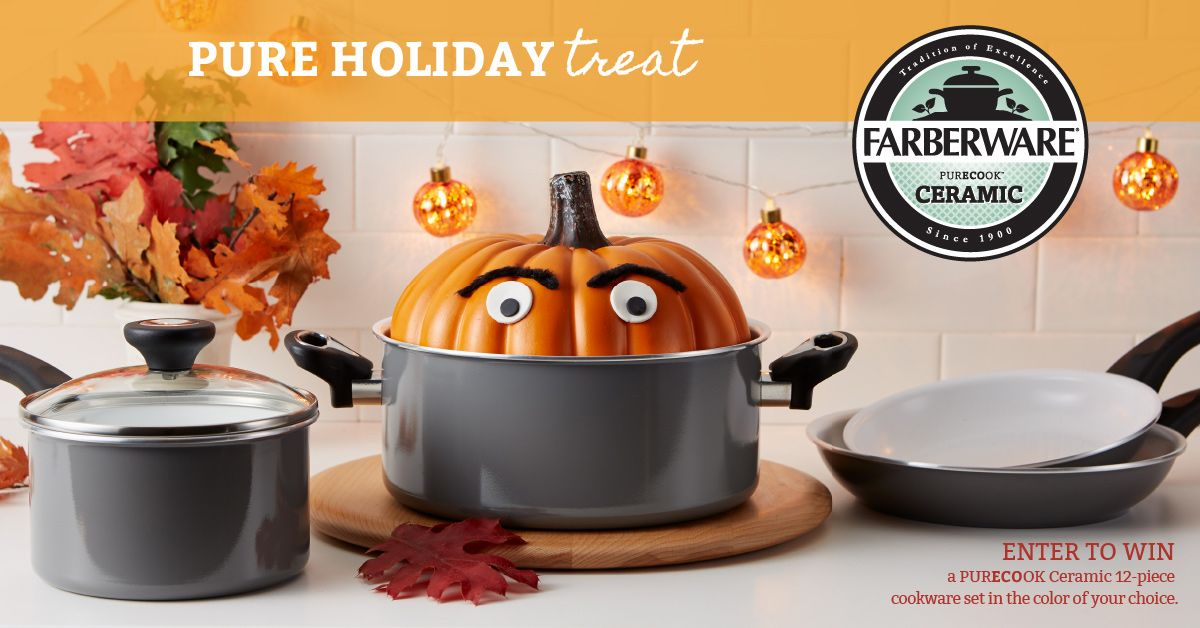 Enter daily to win ONE OF FIVE Farberware® purECOok ...