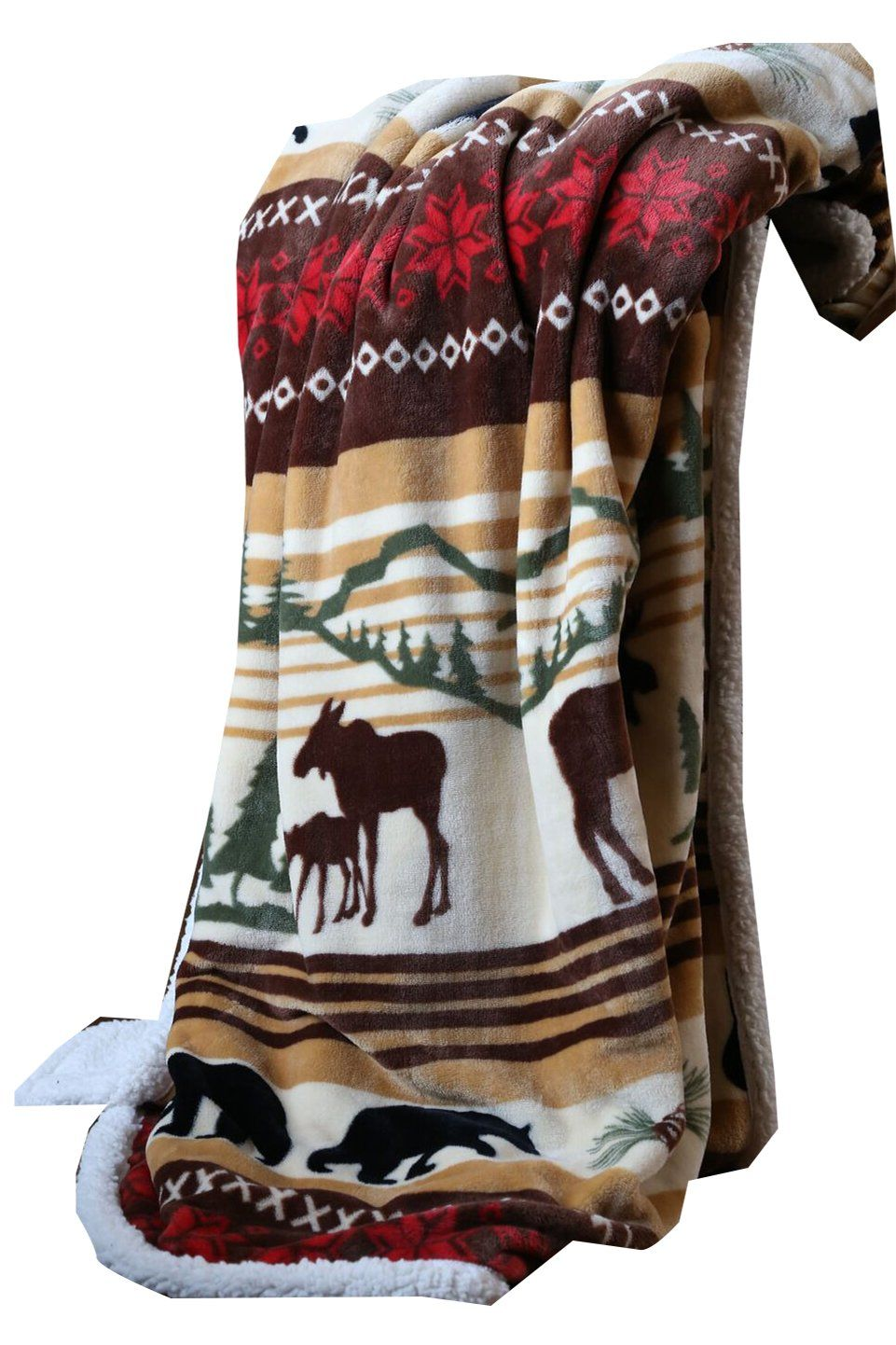 Hinterland Throw Plush Throw Blankets Rustic Blankets Plush Throw
