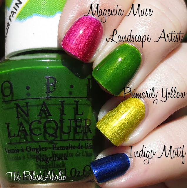 The PolishAholic: OPI Color Paints Collection Swatches & Review - 1 ...