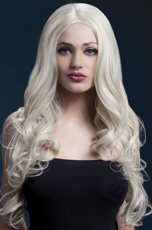 Langhaarperucke blond