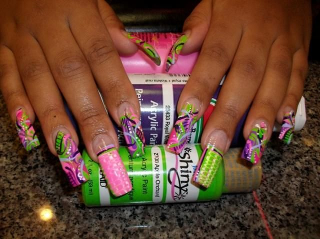 Colorful wild nail design nail art design from coolnailsart colorful wild nail design nail art design from coolnailsart prinsesfo Images