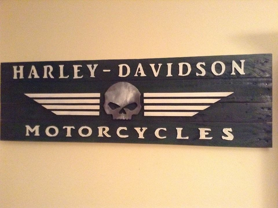 Hunter Green 3D Harley-Davidson wall art. | Dale and Dana Designs ...