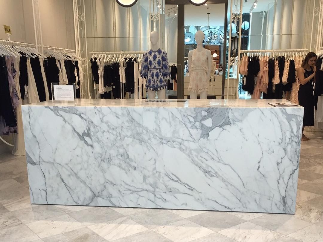 220 Likes 6 Comments Cdk Stone Cdkstone On Instagram Wow Alice Mccall At Pacific Fair Shopping Centre H Statuario Marble Marble Counter Natural Stones
