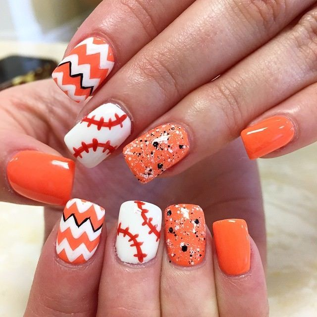 Top 10 amazing sporty baseball nail art designs for 2018 ...