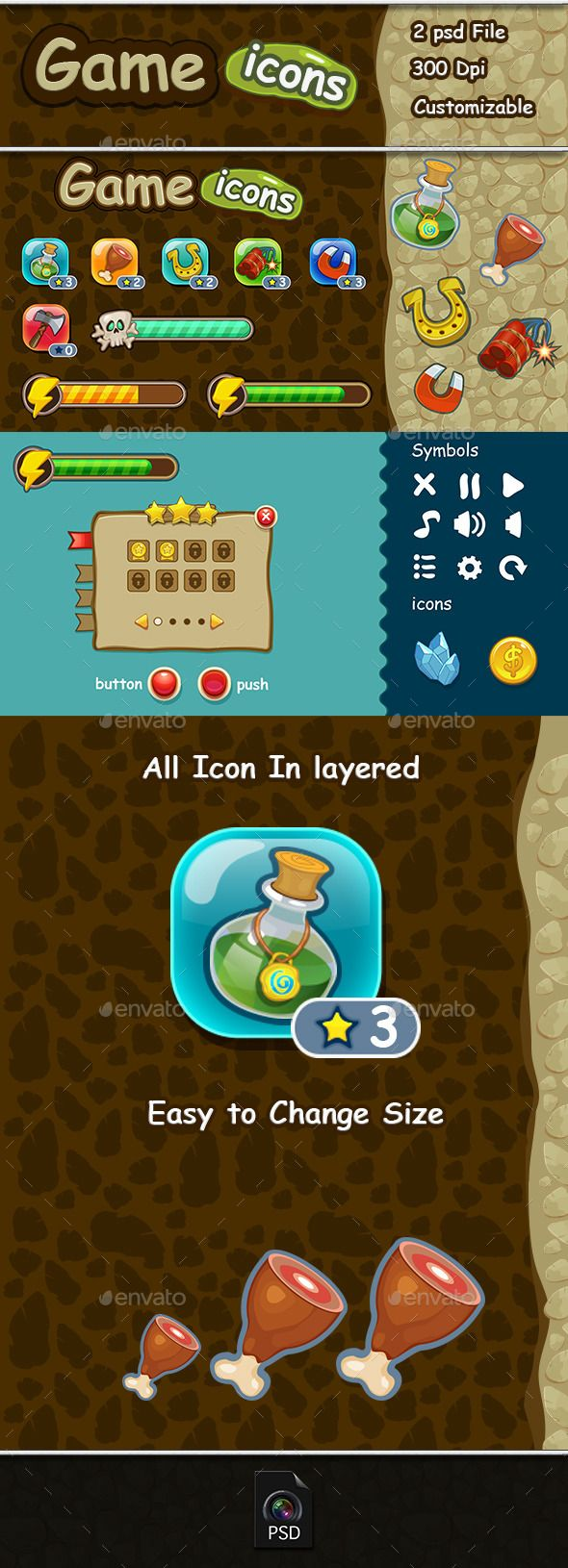 Game Icons & Ui Set User Interfaces Game Assets