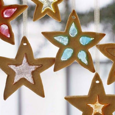 Gingerbread Glass Cookies by thefamilykitchen. Recipe from Yankee Magazine #Christmas_Cookies #Gingerbread